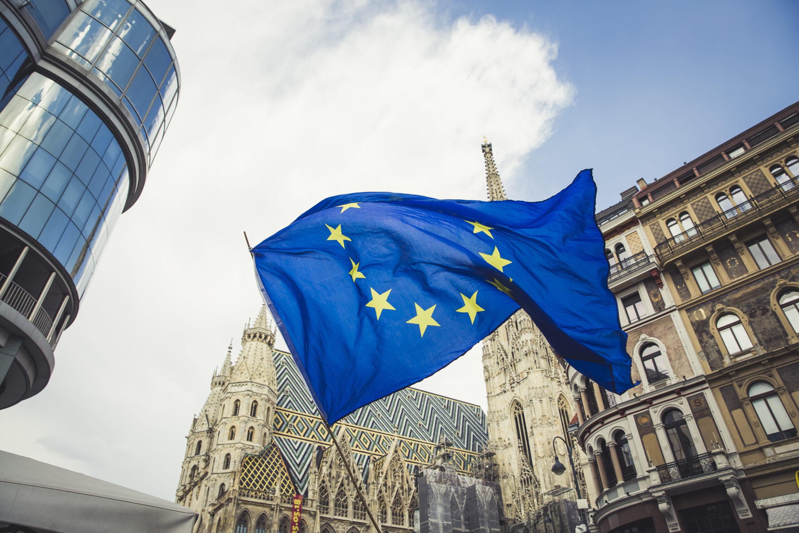 BGF_EU Fahne Stephansdom